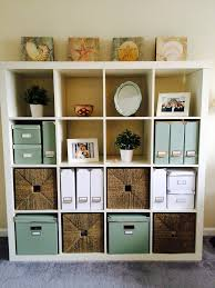 home office magazine. Neat Home Office Storage | White Ikea Expedit Bookcase And Green Kassett Boxes Magazine Files A