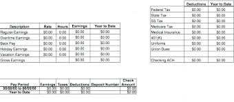 Free Paycheck Stub Template Homeish Co