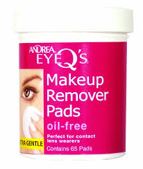 amazon andrea eye q s oil free eye makeup remover pads 65 count pack of 3 beauty