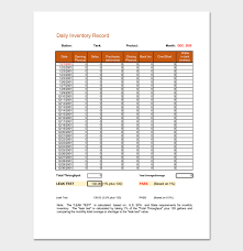 inventory spreadsheet with pictures daily inventory template 6 for word excel