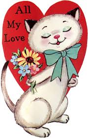 valentine cat images. Plain Cat Vintage Cat Valentine Image Throughout Images