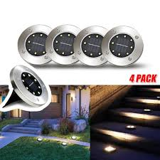 Disk Lights Solar Details About 4x 8led Solar Disk Lights Ground Buried Garden Lawn Deck Path Outdoor Waterproof
