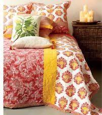 Creative Co-op Botanist Screen Printed Bed Quilt   eBay & Creative Co-Op Orange Multi Cotton Hand Screened Bed Quilt - Queen Adamdwight.com