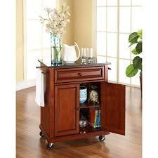 Granite Top Kitchen Cart Home Styles Create A Cart Cherry Kitchen Cart With Black Granite