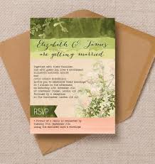 17 of the best printable wedding invitations ever Pink And Green Wedding Invitation Templates kraft green peach coral pink wild meadow garden floral flowers nature watercolour wedding invitations invites printable Printable Wedding Invitation Templates