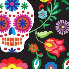 mexican sugar skull wallpaper mural hovia