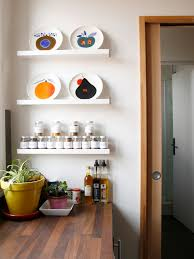 a colorful french home with child like spirit design sponge carved french kitchen wall shelf