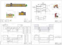 Курсовые и дипломные проекты общественное здание скачать dwg  Курсовой проект Детский сад на 80 мест