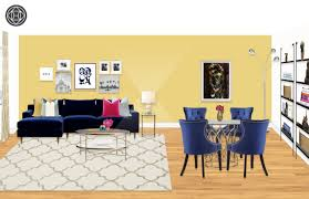 Ballard Designs Kendall Side Table Contemporary Glam Living Room Design By Havenly Interior