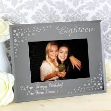 personalised 18th birthday diamante gl photo frame
