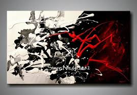 100 hand painted large black white and red abstract art wall art canvas high quality decor canvas wall art large canvas wall art wall art