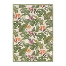 couristan 746000070 dolce flowering fern ivory hunter green outdoor rug lowe s canada