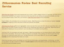 Zillionresumes Review Best Recruiting Service