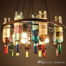 retro wine bottle led pendant chandeliers lamps for bar club hotel restaurant use creative artistic vintage pendant lighting pendant lights
