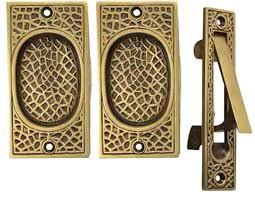 antique double pocket doors. Decoration Antique Double Pocket Doors And Craftsman Pattern Privacy (Lock) Style Door Set (Antique