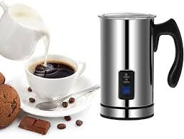 Homgeek Stainless Steel <b>Automatic Electric Milk Frother</b> Foamer ...