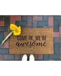 christmas door mats outdoor. Come In, Were Awesome Doormat / Welcome Mat Coir Front Porch Decor Christmas Door Mats Outdoor