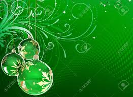 Vector Illustration Of Green Holiday Card With Christmas Balls