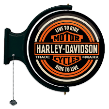 Harley Davidson Signs Decor HarleyDavidson Motorcycles Rotating Pub Light Biker Bar Decor 6