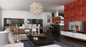 marvellous ideas for painting living room dining combo paint modern and orange flame pattern wallpaper on