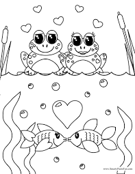 Printable Coloring Pages color pages of fish : Valentines Day Coloring Page : Best Coloring Pages ...