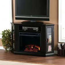 large image for cherry wood corner electric fireplace convertible a black light color