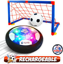 Lighted Hover Ball Instructions Activemvp Kids Toys Rechargeable Hover Soccer Ball Set With 2 Goals Indoor Led Light Up Fun Air Soccer Game No Battery Needed Strong Improved Abs