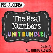 pre algebra unit 1 the real numbers literal equationssolving