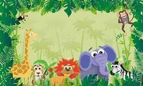 Jungle Animal Themed Wallpaper ...
