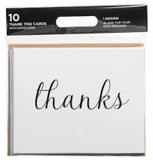 Thank You Cursive Font Whsmith Cursive Font Thanks Thank You Cards Pack Of 10
