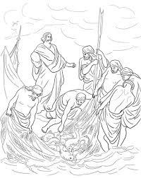 Jezus En De Wonderbare Visvangst Kleurplaat Gratis Kleurplaten Printen