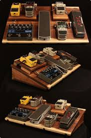 mbw awesome pedal board not mobile but could get small lightweight one w carry bag for mobile board walnut guitar effects pedal board powered