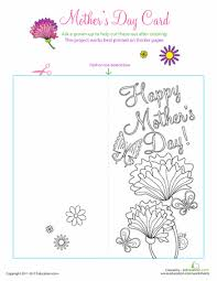 Mothers Greeting Card Color A Mothers Day Greeting Card Preschool Pinterest