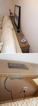 this little diy wooden table behind the sofa which is very easy and accessible for everyone to make is all about functionality its strategic placement