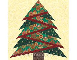 Pine Tree quilt block pattern paper piecing quilt pattern & 🔎zoom Adamdwight.com