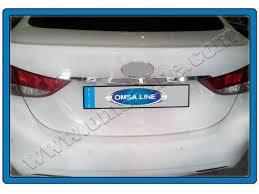 <b>Накладка над номером на</b> крышку багажника Hyundai Elantra 2011