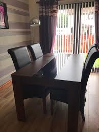 Cm Walnut Dining Room Table  Chairs  In Glenrothes Fife - Walnut dining room furniture