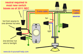 wiring diagram for ceiling fan light