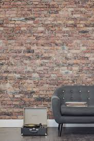 reproduction flock living walls wallpaper if youre yearning after a brick wall this brick effect wallpaper is a