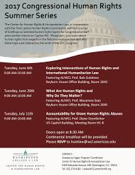 congressional human rights summer series