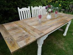 Extendable Rustic Dining Table Farmhouse Country Style Extending Country Style Extendable Dining Table