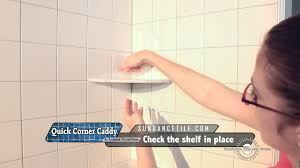 quick corner caddy instructional how to install a corner shelf in shower on existing tile