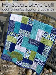 This quilt is perfect for a beginner...Pieces by Polly: Easy Half ... & This quilt is perfect for a beginner.Pieces by Polly: Easy Half-Square Blocks  Quilt - Easy Pre-Cut Cuddle Cake and Layer Cake Pattern (Layer Cake  Patterns) Adamdwight.com
