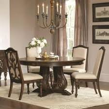 coaster ilana traditional round dining table with detailed pedestal coaster fine furniture