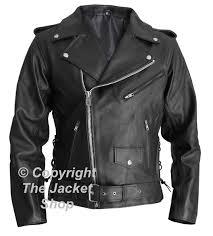 arnold schwarzenegger the terminator leather biker jacket