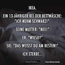 Ikea Ein 13 Jähriger Bei Der Bettwäsche Ich Nehm Schwarz Kaufdex