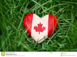 Piccolo Cuore Di Legno Con La Foglia Di Acero Canadese Bianca Rossa Della  Bandiera Che Si Trova Nell'erba Sul Fondo Verde Della N Fotografia Stock -  Immagine di celebri, ecologia: 92552878