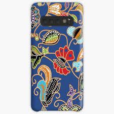 Design Skin Phone Case Singapore Sarong Kebaya Batik Blue Case Skin For Samsung Galaxy