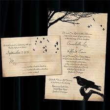 Halloween Wedding Invitations Custom Raven Halloween Wedding Invitations 2344746 Weddbook