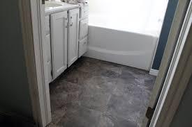 image of l and stick vinyl tile over linoleum
